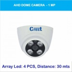 AHD DOME CAMERA 1 MP Model: CR-AHD720MP-SL4D Dome CCTV Camera