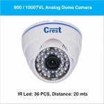 Analog Dome Camera 900 / 1000TVL Model CR-DF-522D/522B