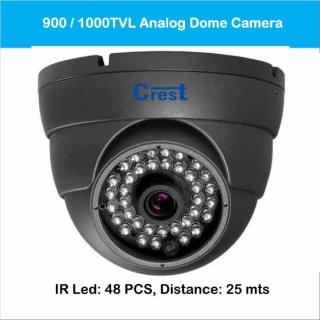 Analog Dome Camera 900 / 1000TVL Model: CR-DF-5348